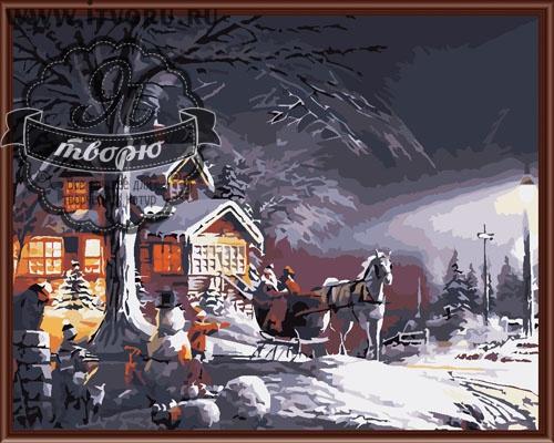 Набор для раскрашивания по номерам Сочельник Палитра GX6172Раскраски по номерам<br>Набор для раскрашивания по номерам Сочельник от компании Палитра. Перед вами удивительная раскраска, которая сразу захватит ваше внимание.<br><br>На ней нарисован большой гостеприимный дом, в котором горят огни. Перед домом стоят сани, запряженные белой лошадью, из которых выходят гости. Они спешат на рождество к своим родным. Дети веселятся со снегом и строят снежную крепость и снеговика. Картина наполнена предчувствием праздника, Рождества, когда вся семья и близкие друзья соберутся все вместе за большим и дружным столом. Особый шарм картине придает тот факт, что она изображает не настоящее время, а 19 век. Картина станет отличнейшим подарком на Новый год или Рождество для ваших близких.<br><br>Выбирая себе раскраску по номерам, стоит задуматься о том, какая вам нужна тематика рисунка. Ведь существуют различные пейзажи, животные, натюрморты и букеты цветов, города и портреты. Также нужно определиться с размером и стоимостью раскраски, ее формой и уровнем сложности. В нашем интернет-магазине Я творю вы найдете абсолютно любую раскраску по номерам, в том числе и Набор для раскрашивания по номерам Сочельник от компании Палитра.<br><br>Техника: раскраска по номерам<br>Схема: Цифровая схема<br>Основа: Холст на подрамнике<br>Кол-во цветов: 24<br>Материал: Хлопок<br>Размер: 40х50 см<br>Размер упаковки: 51,5 х 41 х 3 см<br>В состав набора входит: холст, натянутый на подрамник, с нанесенным контуром рисунка, краски, кисти 3 шт. из