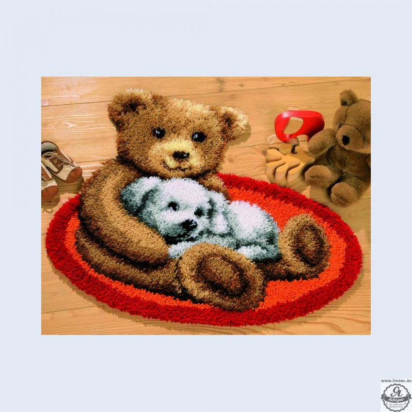 Набор для вышивки коврика Пушистики Vervaco 0014370-PN