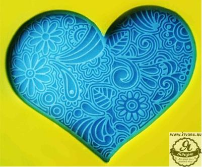 Штамп для изготовления мыла Кружевное сердце Выдумщики 688756-8Материалы для создания мыла<br><br><br>Материал: силикон<br>Размер: 50х40 мм