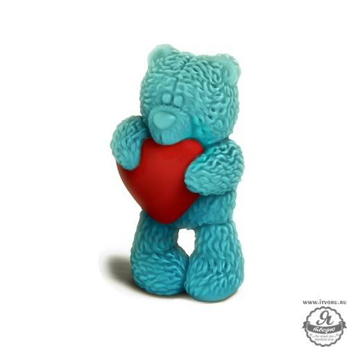 Форма для изготовления мыла 3D Медвежонок Тедди стоит с сердечком Выдумщики 544199-2
