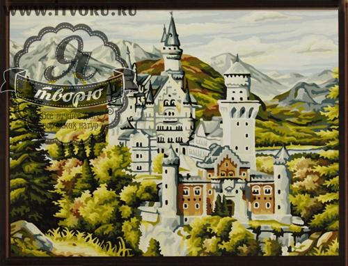 Набор для раскрашивания по номерам Замок Нойшванштайн Палитра GX6204Раскраски по номерам<br>Набор для раскрашивания по номерам Замок Нойшванштайн от компании Палитра. Один из самых знаменитых и красивых замков Германии изображен на этой раскраске по номерам.<br><br>Замок Нойшванштайн баварского короля Людвига II расположен в юго-западной Баварии, недалеко от австрийской границы. На раскраске он выглядит совсем как настоящий. Вам обязательно понравится его разукрашивать и самое главное разместить его у себя дома на самом видном месте.<br><br>Раскраска по номерам позволяет любому человеку почувствовать себя настоящим профессиональным художником. Это дает возможность создать полноценную картину, даже не имея нужных навыков рисования. Раскрашивание по номерам появилось совсем недавно и уже завоевало популярность во всем мире. Это занятие позволяет человеку развивать свои творческие навыки и мелкую моторику рук, воображение и внимательность, а также усидчивость и терпение.<br><br>Техника: раскраска по номерам<br>Схема: Цифровая схема<br>Основа: Холст на подрамнике<br>Кол-во цветов: 24<br>Материал: Хлопок<br>Размер: 40х50 см<br>Размер упаковки: 51,5 х 41 х 3 см<br>В состав набора входит: холст, натянутый на подрамник, с нанесенным контуром рисунка, краски, кисти 3 шт. из