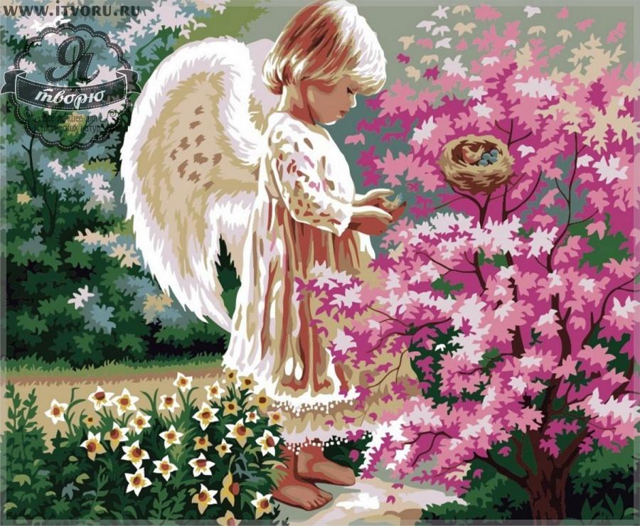 Набор для раскрашивания по номерам Ангелочек в саду Палитра G280Раскраски по номерам<br>Набор для раскрашивания по номерам Ангелочек в саду от компании Палитра. Маленький милый ангелочек с крылышками любуется красивым розовым кустом и птичьим гнездышком. Позади малыша растут нарциссы.<br><br>Каждый элемент этой раскраски имеет свой номер, который необходимо закрасить определенным цветом акриловой краской, чтобы в итоге получилось полноценное изображение. Удивительно нежная картина украсит ваш дом, сделает еще более уютным и теплым. Такое изображение можно повесить в детской комнате, что ангел охранял вашего малыша.<br><br>Многие люди любят рисовать, однако, не всем удается делать это профессионально. В таком случае раскрашивание по номерам сильно упрощает задачу, ведь теперь вы почувствуете себя настоящим художником. Для этого не требуется особых творческих навыков, просто закрашивайте номера на холсте определенными красками. Это занятие приведет вас в восторг, ведь в итоге получается настоящий художественный шедевр, которым можно гордиться.<br><br>Техника: раскраска по номерам<br>Схема: Цифровая схема<br>Основа: Холст на подрамнике<br>Кол-во цветов: 23<br>Материал: Хлопок<br>Размер: 40х50 см<br>Размер упаковки: 51,5 х 41 х 3 см<br>В состав набора входит: холст, натянутый на подрамник, с нанесенным контуром рисунка, краски, кисти 3 шт. из