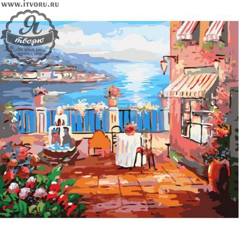Набор для раскрашивания по номерам Завтрак у моря Палитра G317Раскраски по номерам<br>Набор для раскрашивания по номерам Завтрак у моря от компании Палитра. Если вы любите рисовать, то вам обязательно понравится раскраска по номерам с видом на море.<br><br>На милой террасе стоит стол для романтичного завтрака. Рядом с ним бьет красивый фонтан. Такая картина станет органичным элементом декора вашего дома, украсит и освежит его, добавит ярких и сочных красок. Кто-то будет вспоминать о своих летних путешествиях, кого-то эта картина будет вдохновлять на новые поездки.<br><br>Выбирая себе раскраску по номерам, стоит задуматься о том, какая вам нужна тематика рисунка. Ведь существуют различные пейзажи, животные, натюрморты и букеты цветов, города и портреты. Также нужно определиться с размером и стоимостью раскраски, ее формой и уровнем сложности. В нашем интернет-магазине Я творю вы найдете абсолютно любую раскраску по номерам, в том числе и Набор для раскрашивания по номерам Завтрак у моря от компании Палитра.<br><br>Техника: раскраска по номерам<br>Схема: Цифровая схема<br>Основа: Холст на подрамнике<br>Кол-во цветов: 30<br>Материал: Хлопок<br>Размер: 40х50 см<br>Размер упаковки: 51,5 х 41 х 3 см<br>В состав набора входит: холст, натянутый на подрамник, с нанесенным контуром рисунка, краски, кисти 3 шт. из высокоэластичного нейлона, специальные петли для подвеса картины,