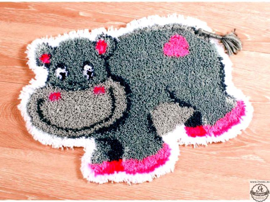 Набор для вышивки коврика Бегемотик Vervaco 0145614-PN