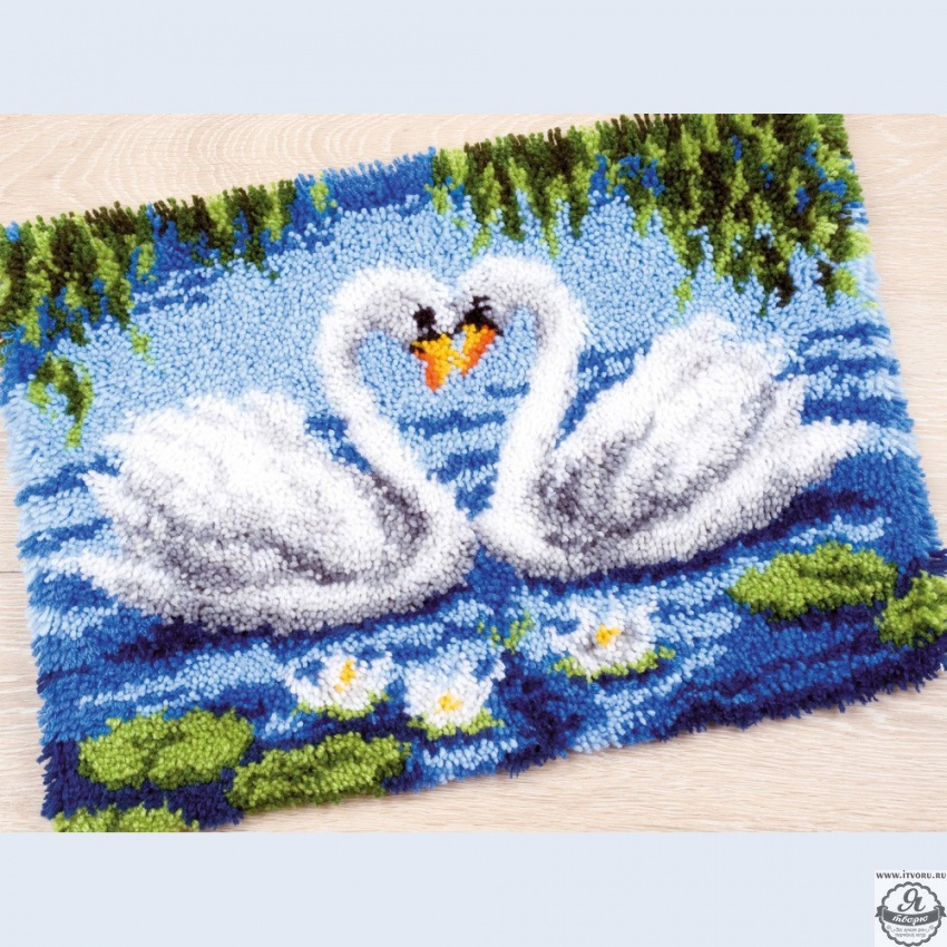 Набор для вышивки коврика Лебеди Vervaco 0021856-PN