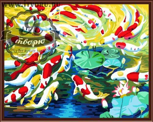 Набор для раскрашивания по номерам Рыбки Палитра GX6153