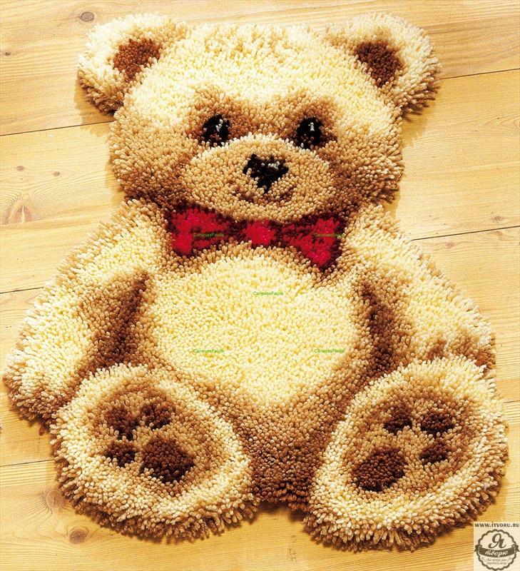 Набор для вышивки коврика Мишка Vervaco 0014348-PN