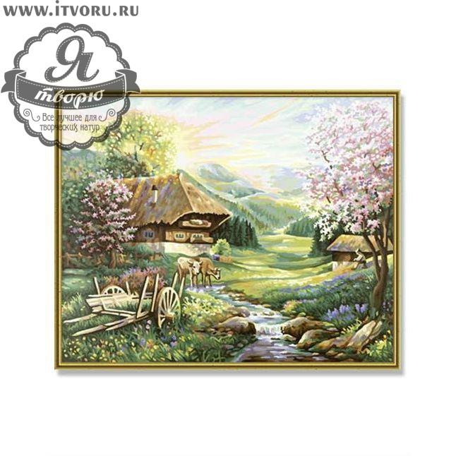 Набор для раскрашивания по номерам Деревушка в долине Палитра GX6196Раскраски по номерам<br>Набор для раскрашивания по номерам Деревушка в долине от компании Палитра. Эта раскраска понравится всем любителям рисовать пейзажи.<br><br>На картине красивый деревенский домик стоит на краю поля, который рассекается небольшой речкой. На поле пасется коровка и цветут деревья. Типичный деревенский пейзаж отлично впишется в интерьер вашего дома.<br><br>Наш интернет-магазин Я творю рад предложить вам широкий ассортимент всевозможных наборов для творчества. Среди них и Набор для раскрашивания по номерам Деревушка в долине от компании Палитра. Данный набор содержит в себе все необходимые материалы, которые нужны для работы. Вы можете выбрать набор, основываясь по его тематике и уровню сложности, стоимости и размеру. О каждом предложении можно прочесть описание и рассмотреть его на фотографии.<br><br>Техника: раскраска по номерам<br>Схема: Цифровая схема<br>Основа: Холст на подрамнике<br>Кол-во цветов: 18<br>Материал: Хлопок<br>Размер: 40х50 см<br>Размер упаковки: 51,5 х 41 х 3 см<br>В состав набора входит: холст, натянутый на подрамник, с нанесенным контуром рисунка, краски, кисти 3 шт. из