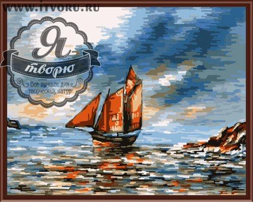 Набор для раскрашивания по номерам Алые паруса Палитра GX6154