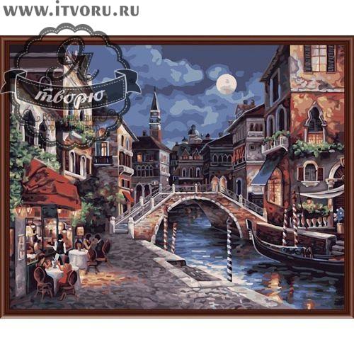 Набор для раскрашивания по номерам Ночная Венеция Палитра G350Раскраски по номерам<br>Набор для раскрашивания по номерам Ночная Венеция от компании Палитра. Прекрасная Венеция красива даже ночью. У вас появилась возможность ее нарисовать собственными руками.<br><br>На картине изображен канал, через который перекинут каменный мостик. Справа проплывает гондола, а слева влюбленные пары сидят в уютном ресторанчике. Город освещает полная луна. Романтичный город Италии, изображенный на полотне, очарует ваших гостей своим волшебным романтическим видом.<br><br>В нашем интернет-магазине Я творю вы сможете найти любой набор для творчества, в том числе и Набор для раскрашивания по номерам Ночная Венеция от компании Палитра. Тут вы подберете раскраску по ее стоимости и размеру, уровню сложности тематике. Есть раскраски для детей и взрослых, себе или в подарок. Выбирая раскраску по номерам, не забудьте прочесть о ней подробное описание, а также рассмотрите ее на качественной фотографии.<br><br>Техника: раскраска по номерам<br>Схема: Цифровая схема<br>Основа: Холст на подрамнике<br>Кол-во цветов: 25<br>Материал: Хлопок<br>Размер: 40х50 см<br>Размер упаковки: 51,5 х 41 х 3 см<br>В состав набора входит: холст, натянутый на подрамник, с нанесенным контуром рисунка, краски, кисти 3 шт. из