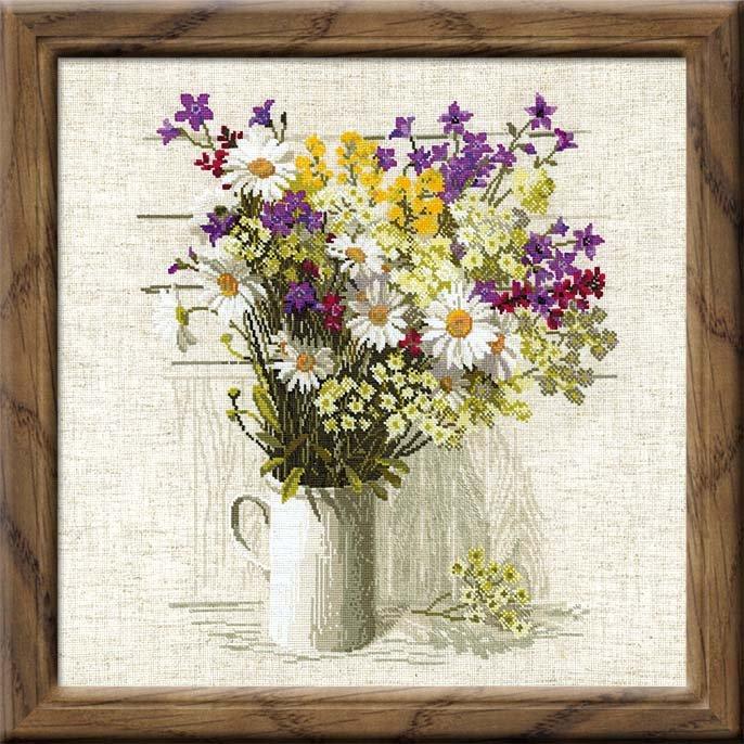 Вышивка цветов и букетов крестиком 719