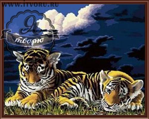 Набор для раскрашивания по номерам Тигрята Палитра GX6023