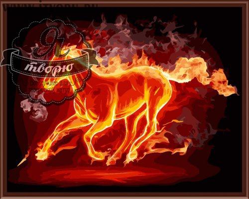 Набор для раскрашивания по номерам Огненный конь Палитра GX6231Раскраски по номерам<br>Набор для раскрашивания по номерам Огненный конь от компании Палитра. Эта раскраска станет прекрасным подарком вашим близким.<br><br>На ней изображен скачущий огненный конь. Такое необычное изображение будет красиво смотреться в вашем доме. Обязательно повесьте его на стену, чтобы радовать глаз домочадцев и вас.<br><br>Далеко не все имеют талант к рисованию картин. В этом случае на помощь приходит раскраска по номерам, которая быстро завоевывает популярность по всему миру. Она позволяет каждому человеку почувствовать себя настоящим художником, который может создавать живописные шедевры. Рисование по номерам также развивает мелкую моторику рук и воображение, распознавание цветов и внимательность, терпение и усидчивость. У детей при этом развиваются творческие навыки.<br><br>Техника: раскраска по номерам<br>Схема: Цифровая схема<br>Основа: Холст на подрамнике<br>Материал: Хлопок<br>Размер: 40х50 см<br>Размер упаковки: 51,5 х 41 х 3 см<br>В состав набора входит: холст, натянутый на подрамник, с нанесенным контуром рисунка, краски, кисти 3 шт. из