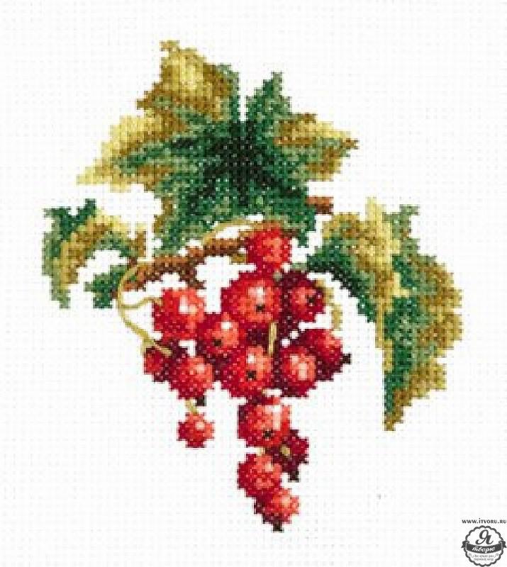 Набор для вышивания крестом Ветка красной смородины Чудесная игла 31-04