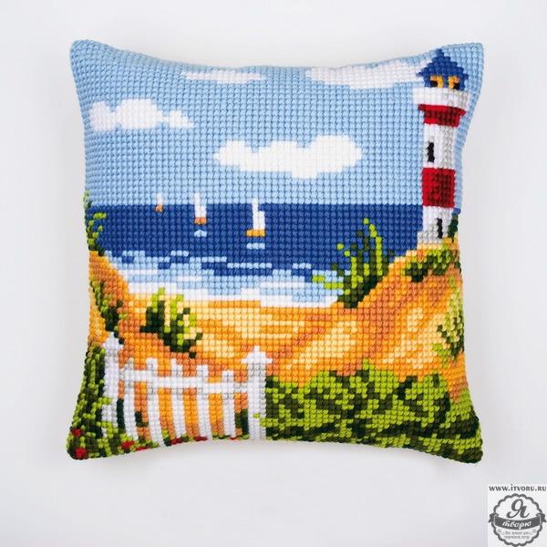 Набор для вышивания крестом подушки Морской пейзаж Vervaco 0008731-PN