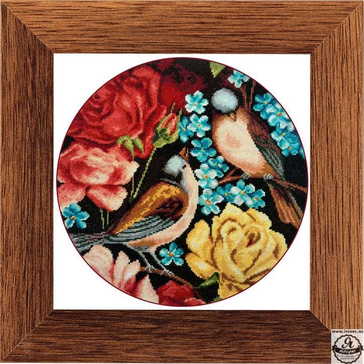 Набор для вышивания гобелена Птички и цветы 2 Гобелен Классик X-1138