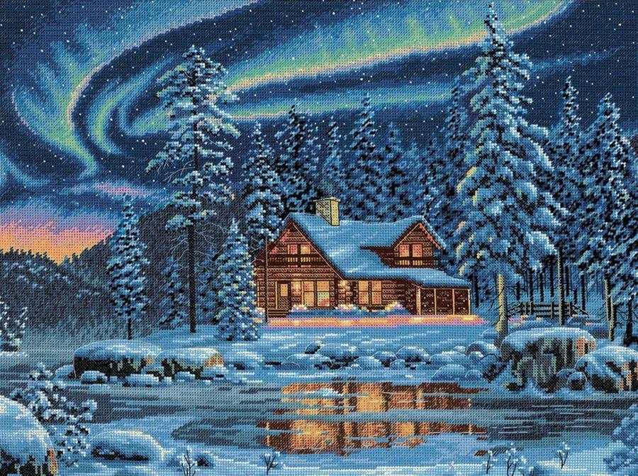 Вышивка крестом дух зимы 12