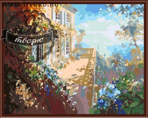 Набор для раскрашивания по номерам Терраса с видом на море Палитра GX6297Раскраски по номерам<br>Набор для раскрашивания по номерам Терраса с видом на море от компании Палитра. Как прекрасно жить в доме с видом на море!<br><br>На картине изображена красивая терраса, утопающая в зелени цветущих растений. Такая замечательная картина станет отличным элементом декора в вашем доме и будет навевать мысли о теплом море, об отпуске и романтических путешествиях.<br><br>В интернет-магазине Я творю вы найдете множество различных товаров для творчества. Среди них и Набор для раскрашивания по номерам Терраса с видом на море от компании Палитра, за которым вам захочется провести время. Выбирая раскраску, стоит учесть ее размер и стоимость, степень сложности рисунка и количество цветов. Вы найдете раскраску на любую тематику, будь то пейзаж или натюрморт, портрет или сказка. Каждый набор подробно описан и имеет качественную фотографию.<br><br>Техника: раскраска по номерам<br>Схема: Цифровая схема<br>Основа: Холст на подрамнике<br>Материал: Хлопок<br>Размер: 40х50 см<br>Размер упаковки: 51,5 х 41 х 3 см<br>В состав набора входит: холст, натянутый на подрамник, с нанесенным контуром рисунка, краски, кисти 3 шт. из