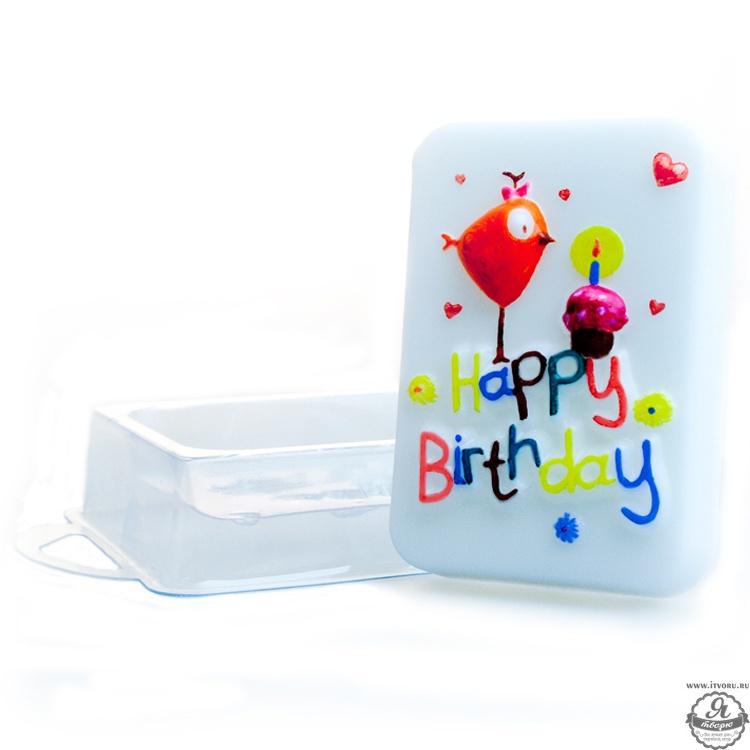 Форма профессиональная для изготовления мыла День рождения Выдумщики 688757-9Материалы для создания мыла<br>Размер готового мыла: 9х6х2,5 см, вес готового мыла примерно 110 г. Профессиональная форма имеет удобный ложемент, который позволяет зафиксировать форму на столе без дополнительных приспособлений.<br><br>Материал: Пластик
