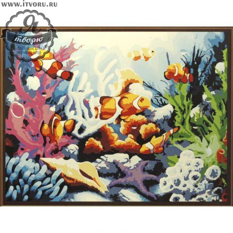 Набор для раскрашивания по номерам Морские просторы Палитра G311Раскраски по номерам<br>Набор для раскрашивания по номерам Морские просторы от компании Палитра. Мы рады представить вам красивую раскраску специально для любителей подводного мира.<br><br>Вам предстоит раскрасить разноцветных рыбок, кораллы и водоросли, которые находятся на морском дне. Сочные цвета картины будут задерживать на себе взгляды ваших гостей и украсят ваш дом.<br><br>Наш интернет-магазин Я творю рад предложить вам широкий ассортимент всевозможных наборов для творчества. Среди них и Набор для раскрашивания по номерам Морские просторы от компании Палитра. Данный набор содержит в себе все необходимые материалы, которые нужны для работы. Вы можете выбрать набор, основываясь по его тематике и уровню сложности, стоимости и размеру. О каждом предложении можно прочесть описание и рассмотреть его на фотографии.<br><br>Техника: раскраска по номерам<br>Схема: Цифровая схема<br>Основа: Холст на подрамнике<br>Кол-во цветов: 24<br>Материал: Хлопок<br>Размер: 40х50 см<br>Размер упаковки: 51,5 х 41 х 3 см<br>В состав набора входит: холст, натянутый на подрамник, с нанесенным контуром рисунка, краски, кисти 3 шт. из