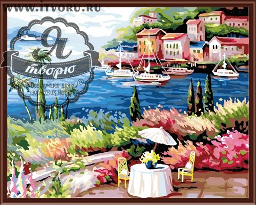 Набор для раскрашивания по номерам Морская набережная Палитра GX6217Раскраски по номерам<br>Набор для раскрашивания по номерам Морская набережная от компании Палитра. Перед вами раскинулась красивая морская набережная, которая утопает в цветущих растениях.<br><br>На заднем фоне виднеется милый курортный городок, рядом с которым пришвартованы небольшие яхты. Глядя на эту картину, представляются морские прогулки, летний отдых и все это навевает романтическое настроение. <br><br>В интернет-магазине Я творю вы найдете множество различных товаров для творчества. Среди них и Набор для раскрашивания по номерам Морская набережная от компании Палитра, за которым вам захочется провести время. Выбирая раскраску, стоит учесть ее размер и стоимость, степень сложности рисунка и количество цветов. Вы найдете раскраску на любую тематику, будь то пейзаж или натюрморт, портрет или сказка. Каждый набор подробно описан и имеет качественную фотографию.<br><br>Техника: раскраска по номерам<br>Схема: Цифровая схема<br>Основа: Холст на подрамнике<br>Материал: Хлопок<br>Размер: 40х50 см<br>Размер упаковки: 51,5 х 41 х 3 см<br>В состав набора входит: холст, натянутый на подрамник, с нанесенным контуром рисунка, краски, кисти 3 шт. из