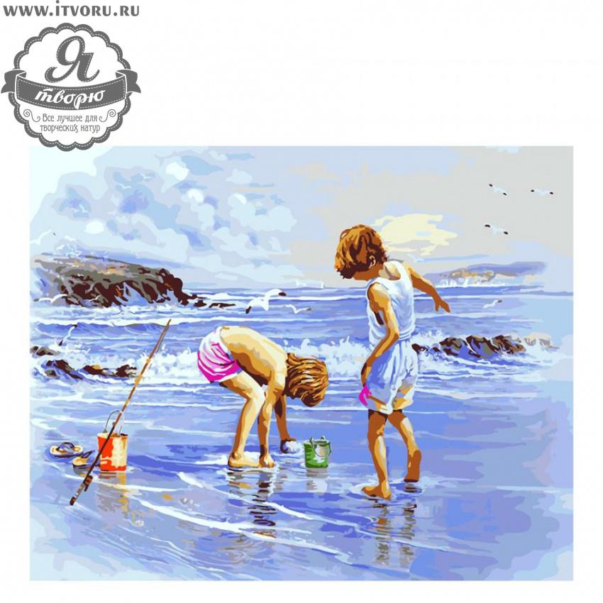 Набор для раскрашивания по номерам Дети на море Палитра G273Раскраски по номерам<br>Набор для раскрашивания по номерам Дети на море от компании Палитра. Мы рады представить вам отличную раскраску по номерам, которая захватит ваше внимание.<br><br>На ней изображены дети, которые играют на берегу моря. Они собирают в ведерко ракушки и маленьких крабиков, которых прибило во время отлива. Вдали летают чайки. Сюжет картины сможет украсить ваш дом, наполнит его теплом воспоминаний о летних отпусках.<br><br>Раскраски по номерам - это настоящее спасение для детей и взрослых, которые пока не умеют полноценно рисовать или не имеют к этому способностей. Закрашивая области с номерами на полотне определенной краской, вы постепенно создаете настоящую картину. По виду раскраска ничем не отличается от оригинала. Теперь вы сможете почувствовать себя настоящим художником, а картину можно будет показывать своим гостям.<br><br>Техника: раскраска по номерам<br>Схема: Цифровая схема<br>Основа: Холст на подрамнике<br>Кол-во цветов: 26<br>Материал: Хлопок<br>Размер: 40х50 см<br>Размер упаковки: 51,5 х 41 х 3 см<br>В состав набора входит: холст, натянутый на подрамник, с нанесенным контуром рисунка, краски, кисти 3 шт. из