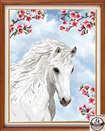 Набор для вышивания гобелена Прекрасная лошадь 28х37 см Гобелен Классик X-1152