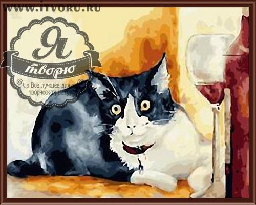 Набор для раскрашивания по номерам Кошечка Палитра GX6163Раскраски по номерам<br>Набор для раскрашивания по номерам Кошечка от компании Палитра. Эта прекрасная раскраска по номерам придется по душе всем любителям кошек.<br><br>Вам предстоит раскрасить красивую черно-белую кошку, которая лежит рядом с бокалом красного вина. Кошка выглядит совсем как настоящая. Забавная мордочка кошки будет вызывать улыбки всех ваших гостей и домочадцев.<br><br>Если вы не имеете профессиональных навыков художника, но любите рисовать, то раскраски по номерам станут вашим спасением. Теперь вы можете почувствовать себя настоящим живописцем, которые создает художественные шедевры. Рисуя по номерам, вы развиваете свои творческие навыки и восприятие цвета, мелкую моторику рук и логическое мышление, внимательность и воображение. Кроме того, это очень интересное и увлекательное занятие.<br><br>Техника: раскраска по номерам<br>Схема: Цифровая схема<br>Основа: Холст на подрамнике<br>Кол-во цветов: 29<br>Материал: Хлопок<br>Размер: 40х50 см<br>Размер упаковки: 51,5 х 41 х 3 см<br>В состав набора входит: холст, натянутый на подрамник, с нанесенным контуром рисунка, краски, кисти 3 шт. из