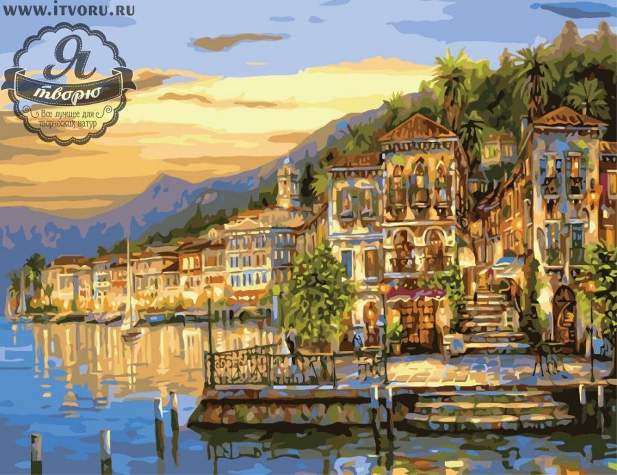 Набор для раскрашивания по номерам Город на воде Палитра G295Раскраски по номерам<br>Набор для раскрашивания по номерам Город на воде от компании Палитра. Если вы начинающий художник и очень любите рисовать, то вам придется по душе эта раскраска по номерам.<br><br>На ней изображен яркий вечерний город, который частично стоит на воде. Слева его окружает море, а справа джунгли. Потрясающей красоты картина покорит вас с первого взгляда и вы не сможете оторвать от нее взгляд. То же самое произойдет и с вашими гостями.<br><br>Многие люди любят рисовать, однако, не всем удается делать это профессионально. В таком случае раскрашивание по номерам сильно упрощает задачу, ведь теперь вы почувствуете себя настоящим художником. Для этого не требуется особых творческих навыков, просто закрашивайте номера на холсте определенными красками. Это занятие приведет вас в восторг, ведь в итоге получается настоящий художественный шедевр, которым можно гордиться.<br><br>Техника: раскраска по номерам<br>Схема: Цифровая схема<br>Основа: Холст на подрамнике<br>Кол-во цветов: 28<br>Материал: Хлопок<br>Размер: 40х50 см<br>Размер упаковки: 51,5 х 41 х 3 см<br>В состав набора входит: холст, натянутый на подрамник, с нанесенным контуром рисунка, краски, кисти 3 шт. из