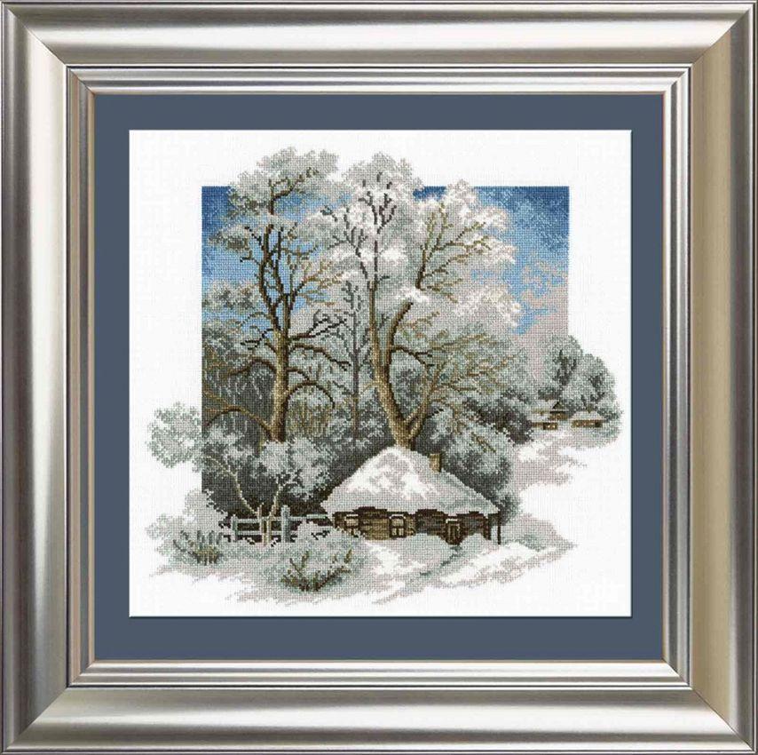 Зима в деревне вышивка крестом схема 9