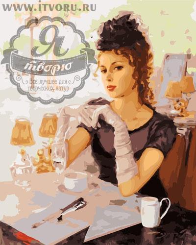 Набор для раскрашивания по номерам Леди в кафе Палитра GX6268Раскраски по номерам<br>Набор для раскрашивания по номерам Леди в кафе от компании Палитра. Перед вами прекрасная раскраска по номерам, на которой изображена красивая девушка.<br><br>Девушка в черном платье и белых перчатках сидит в летнем кафе, попивая кофе. Она явно пришла на свидание и ожидает свою вторую половинку. Романтический вид девушки притягивает взгляды. Картина очень детально прорисована, поэтому на нее приятно смотреть.<br><br>Раскраска по номерам позволяет любому человеку почувствовать себя настоящим профессиональным художником. Это дает возможность создать полноценную картину, даже не имея нужных навыков рисования. Раскрашивание по номерам появилось совсем недавно и уже завоевало популярность во всем мире. Это занятие позволяет человеку развивать свои творческие навыки и мелкую моторику рук, воображение и внимательность, а также усидчивость и терпение.<br><br>Техника: раскраска по номерам<br>Схема: Цифровая схема<br>Основа: Холст на подрамнике<br>Кол-во цветов: 29<br>Материал: Хлопок<br>Размер: 40х50 см<br>Размер упаковки: 51,5 х 41 х 3 см<br>В состав набора входит: холст, натянутый на подрамник, с нанесенным контуром рисунка, краски, кисти 3 шт. из