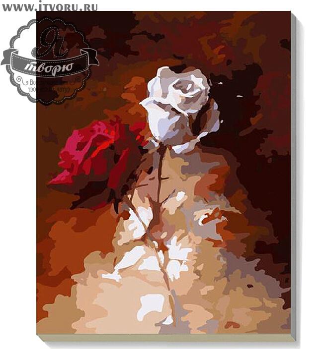 Набор для раскрашивания по номерам Розы Палитра G307Раскраски по номерам<br>Набор для раскрашивания по номерам Розы от компании Палитра. Представленная раскраска придется по душе тому, кому вы ее подарите.<br><br>На ней изображены две нежные розы, красная и белая. Розы нарисованы для контраста на темном фоне. Такая картина украсит любую стену или полку в вашем доме. Нежные и натурально выглядящие цветы будут гармонично смотреться в интерьере любого помещения.<br><br>Наш интернет-магазин Я творю рад предложить вам широкий ассортимент всевозможных наборов для творчества. Среди них и Набор для раскрашивания по номерам  Розы от компании Палитра. Данный набор содержит в себе все необходимые материалы, которые нужны для работы. Вы можете выбрать набор, основываясь по его тематике и уровню сложности, стоимости и размеру. О каждом предложении можно прочесть описание и рассмотреть его на фотографии.<br><br>Техника: раскраска по номерам<br>Схема: Цифровая схема<br>Основа: Холст на подрамнике<br>Кол-во цветов: 28<br>Материал: Хлопок<br>Размер: 40х50 см<br>Размер упаковки: 51,5 х 41 х 3 см<br>В состав набора входит: холст, натянутый на подрамник, с нанесенным контуром рисунка, краски, кисти 3 шт. из