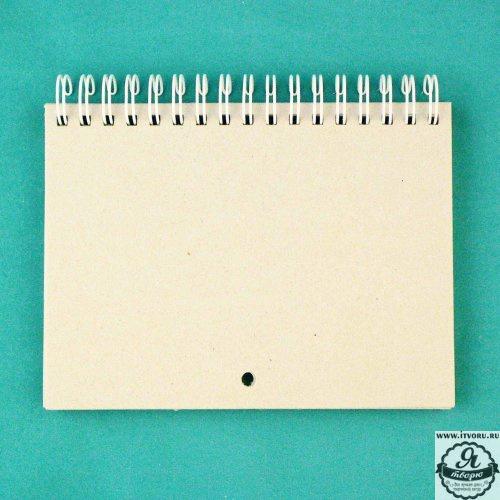 Заготовка для календаря на пружине белой Лоза КП001-Б