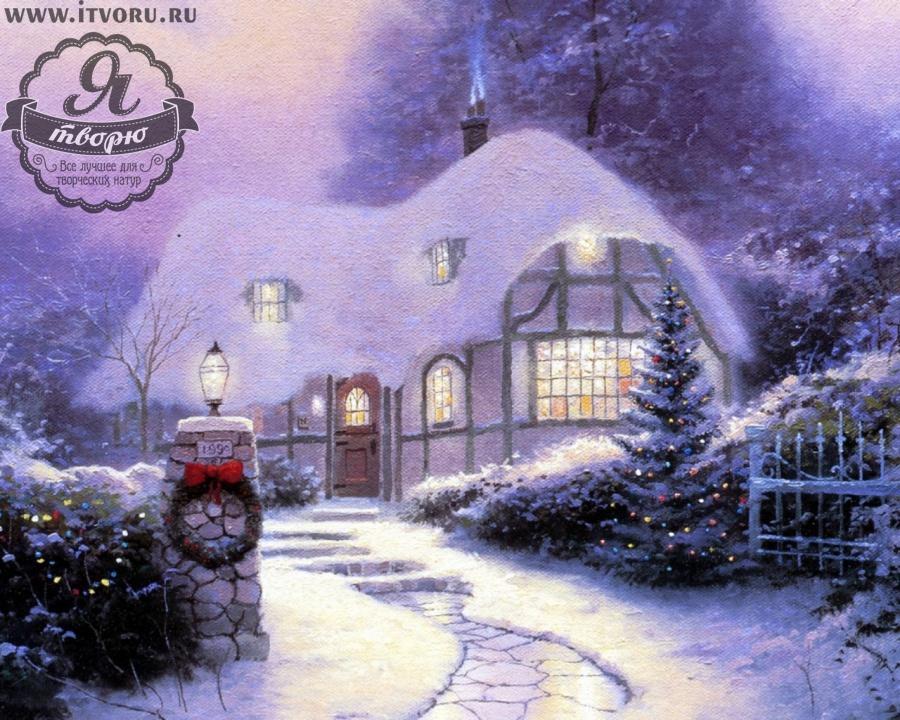 Набор для раскрашивания по номерам Канун Рождества Палитра GX6173