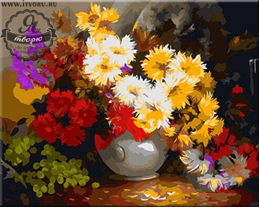 Набор для раскрашивания по номерам Букет  полевых цветов Палитра G342Раскраски по номерам<br>Набор для раскрашивания по номерам Букет полевых цветов от компании Палитра. Удивительно красивая раскраска по номерам придется по душе каждому начинающему художнику.<br><br>На ней изображен прекрасный букет цветов, который стоит в белой вазе. Полевые цветы разных оттенков отлично сочетаются друг с другом и будут освещать своим сочным и ярким видом ваш дом.<br><br>Раскраски по номерам - это настоящее спасение для детей и взрослых, которые пока не умеют полноценно рисовать или не имеют к этому способностей. Закрашивая области с номерами на полотне определенной краской, вы постепенно создаете настоящую картину. По виду раскраска ничем не отличается от оригинала. Теперь вы сможете почувствовать себя настоящим художником, а картину можно будет показывать своим гостям.<br><br>Техника: раскраска по номерам<br>Схема: Цифровая схема<br>Основа: Холст на подрамнике<br>Кол-во цветов: 30<br>Материал: Хлопок<br>Размер: 40х50 см<br>Размер упаковки: 51,5 х 41 х 3 см<br>В состав набора входит: холст, натянутый на подрамник, с нанесенным контуром рисунка, краски, кисти 3 шт. из